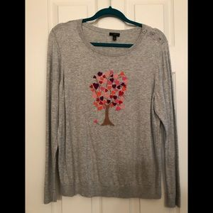 Talbots lightweight Heart Tree sweater